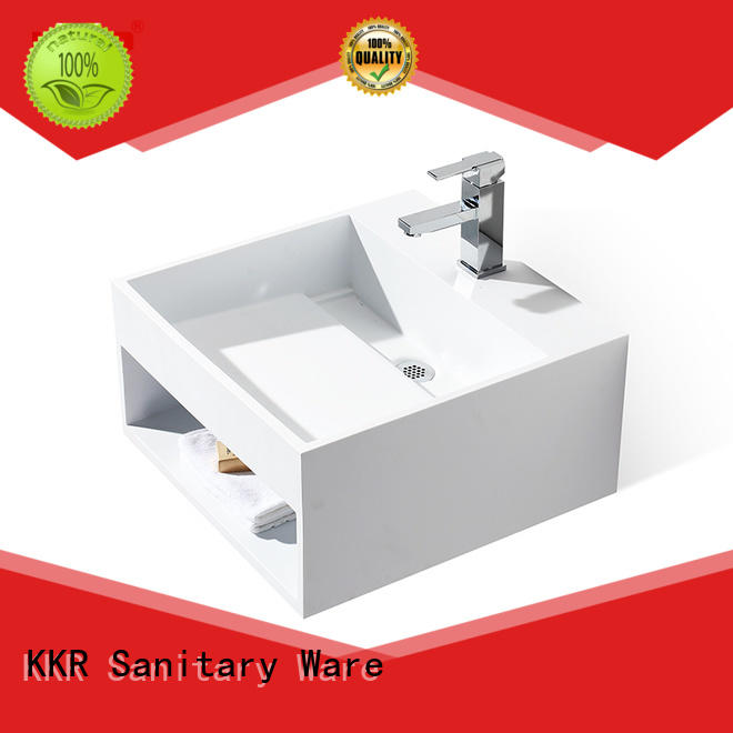 KingKonree marble small wall hung basin manufacturer for hotel