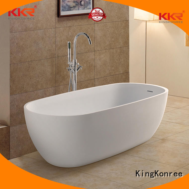 190cm over outside KingKonree Brand Solid Surface Freestanding Bathtub factory