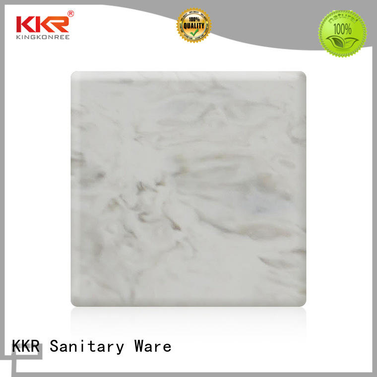 KingKonree pure acrylic solid surface sheet supplier for room