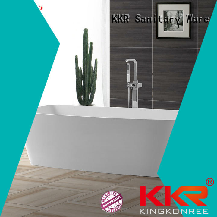 stone artificial solid surface bathtub selling KingKonree company