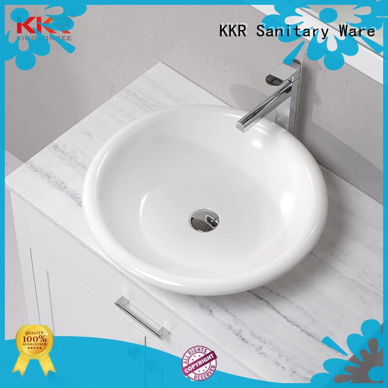 white above counter vanity basin supplier for hotel