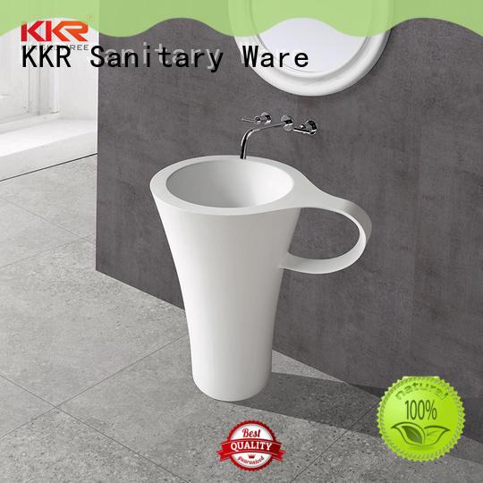 KingKonree soild surface sanitary ware price white for hotel
