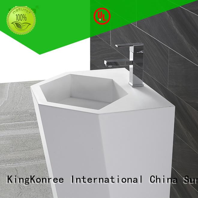KingKonree freestanding basin supplier for bathroom