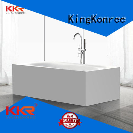 highend selling artificla bathtub KingKonree Brand solid surface bathtub supplier