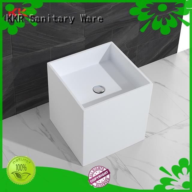 KingKonree rectangle freestanding vanity basins coat for hotel