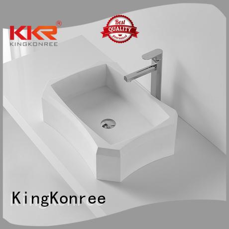 white surface bathroom above counter basins KingKonree Brand company