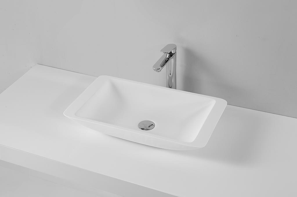 High Quality Above Counter Acrylic Solid Surface Basin With Competitive Price KKR-1321-1