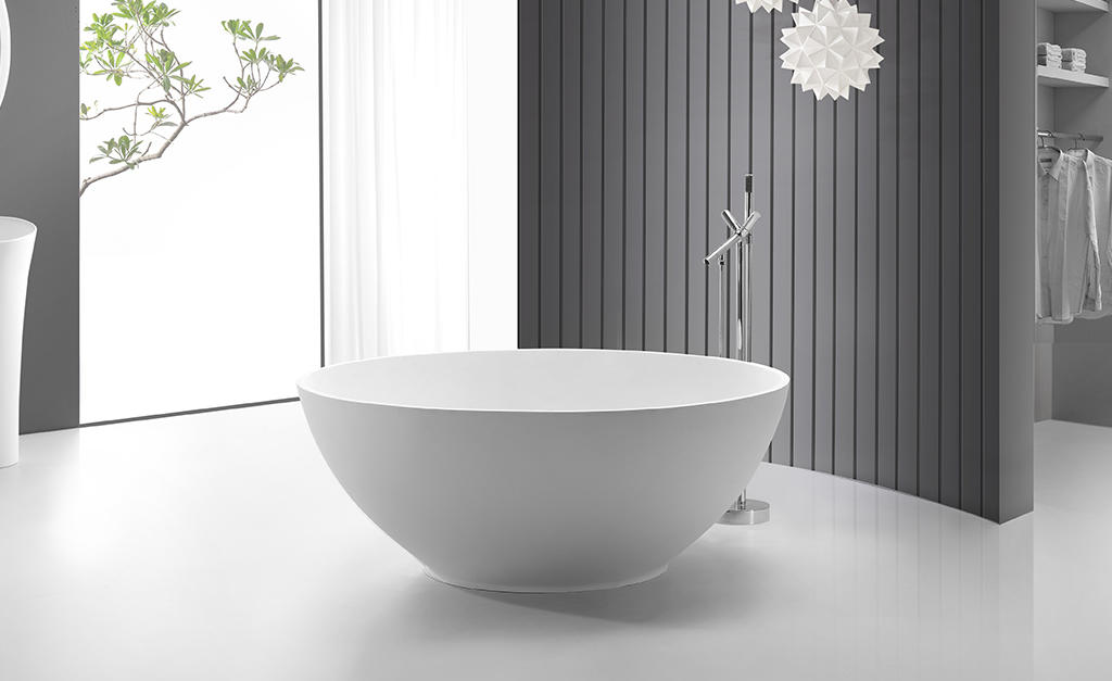 marble solid surface freestanding tubs OEM for family decoration-1