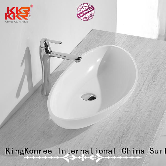 KingKonree Brand above oval above counter basin wash supplier