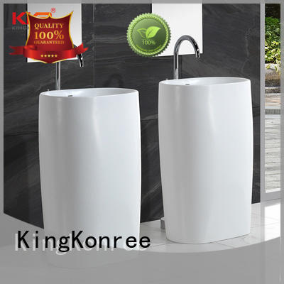 white free standing sink bowl Italian for hotel KingKonree