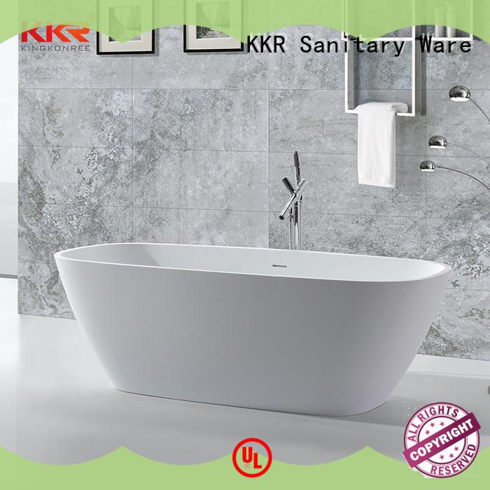 matt solid surface bathtub OEM for hotel