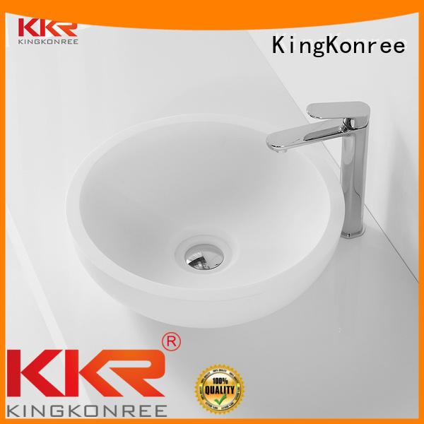 oval above counter basin ware acyrlic above counter basins KingKonree Brand