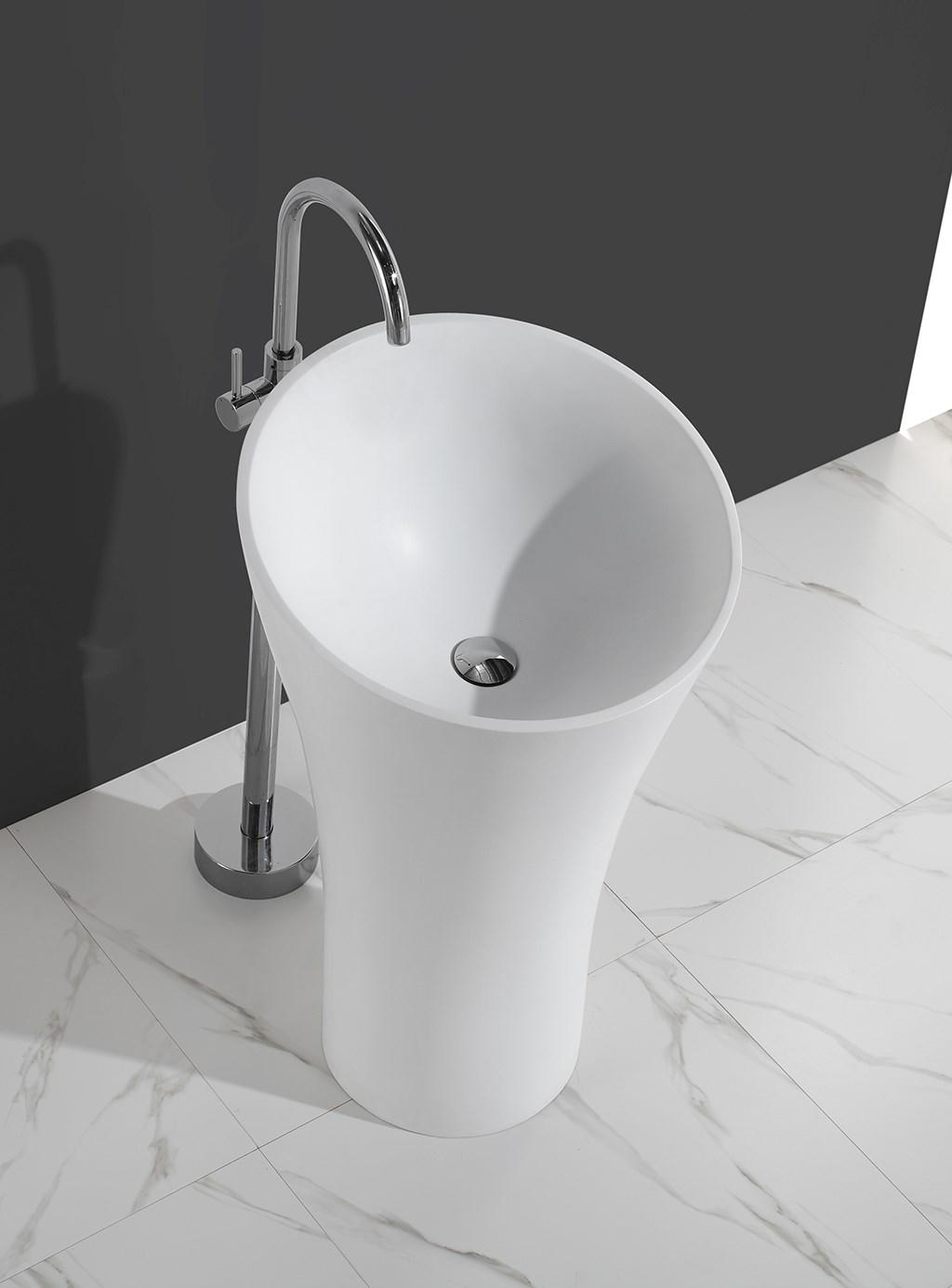KingKonree pan shape free standing wash basin factory price for hotel-1