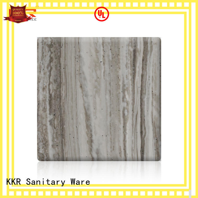black acrylic solid surface sheet customized for room