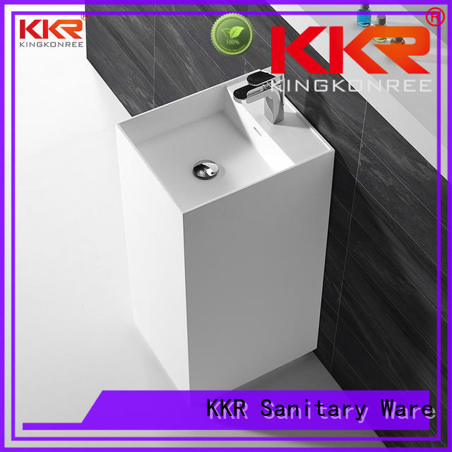 KingKonree high-quality solid surface basin highly-rated for hotel