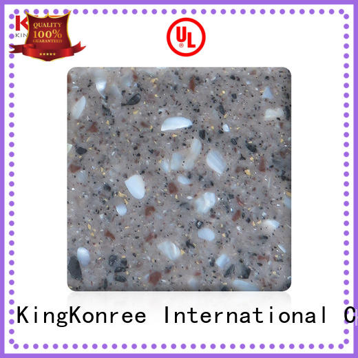 pure types of solid surface countertops manufacturer for restaurant