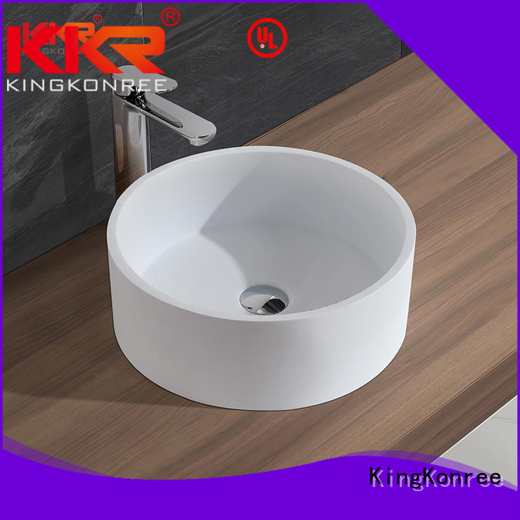 bathroom quality KingKonree Brand oval above counter basin factory