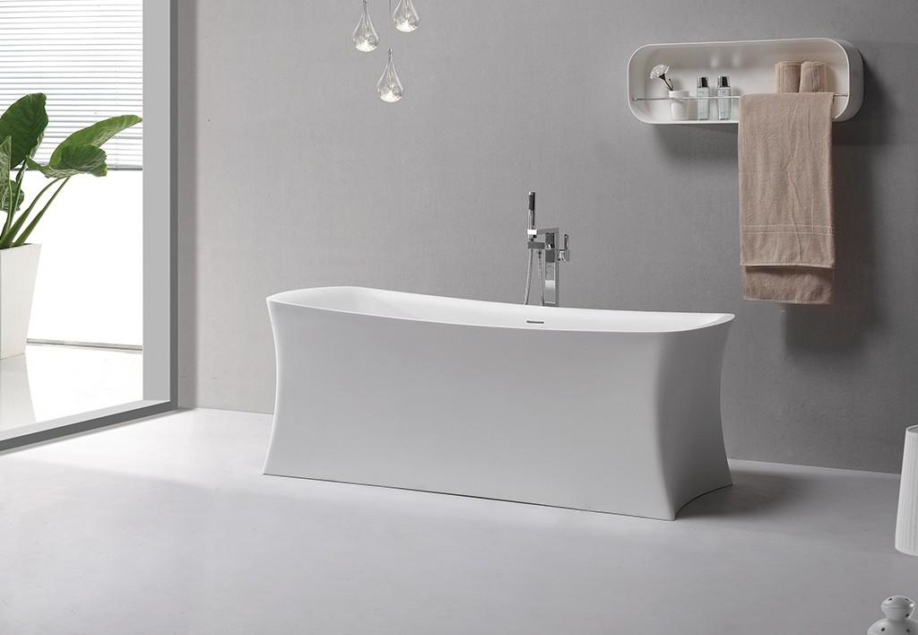 KingKonree kkrb066 stone resin freestanding bath OEM for hotel-1
