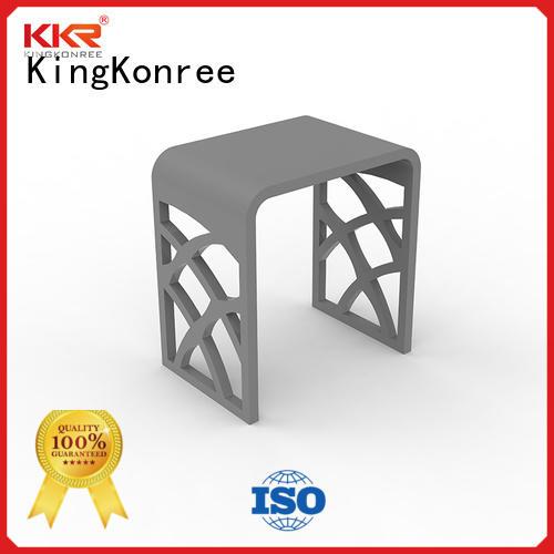 KingKonree sparkle acrylic shower stool design for home