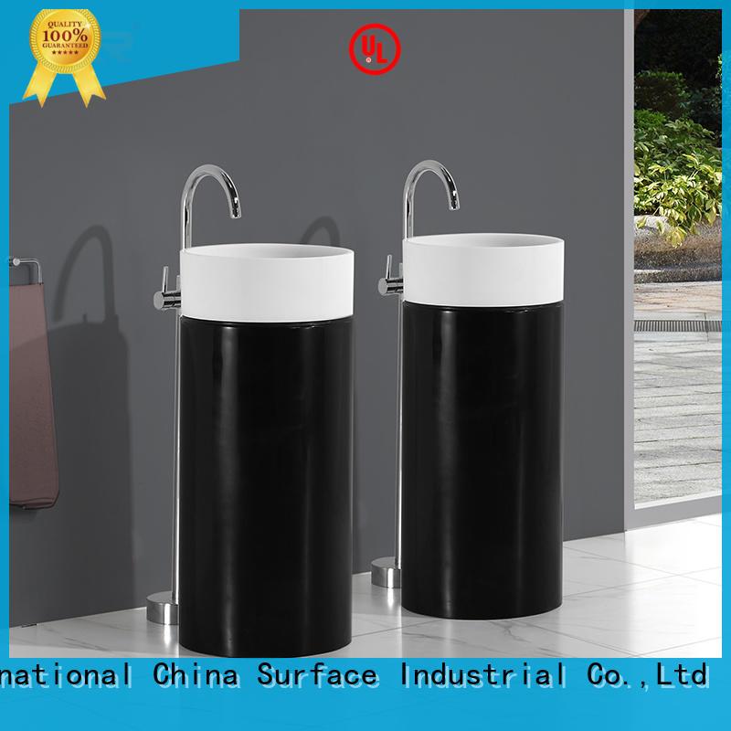 KingKonree standard freestanding vanity sink for motel