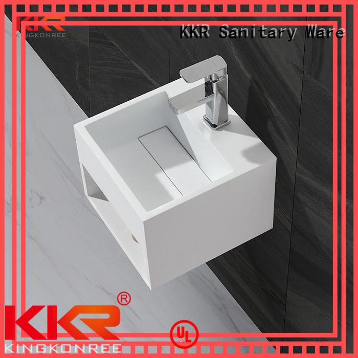 resin unique KingKonree Brand wall mounted wash basins