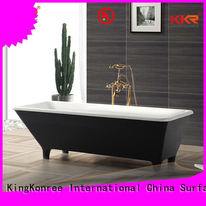1800mm Solid Surface Freestanding Bathtub artificial KingKonree company