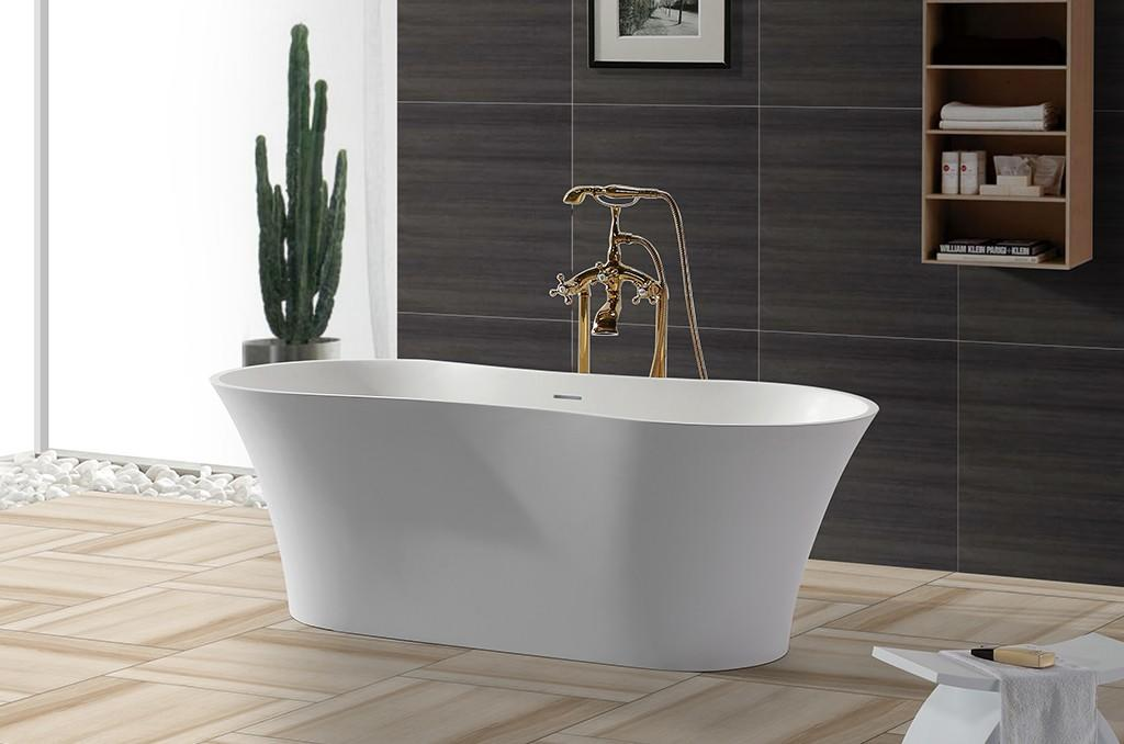 KingKonree overflow stand alone acrylic bathtubs for bathroom-1