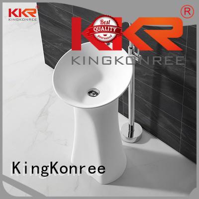 KingKonree Brand stone free diamond bathroom free standing basins