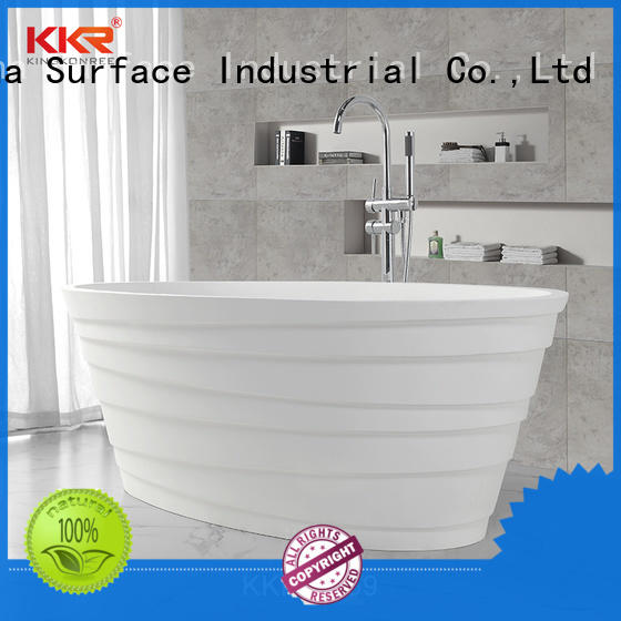 standard lightweight freestanding bathtub resin KingKonree