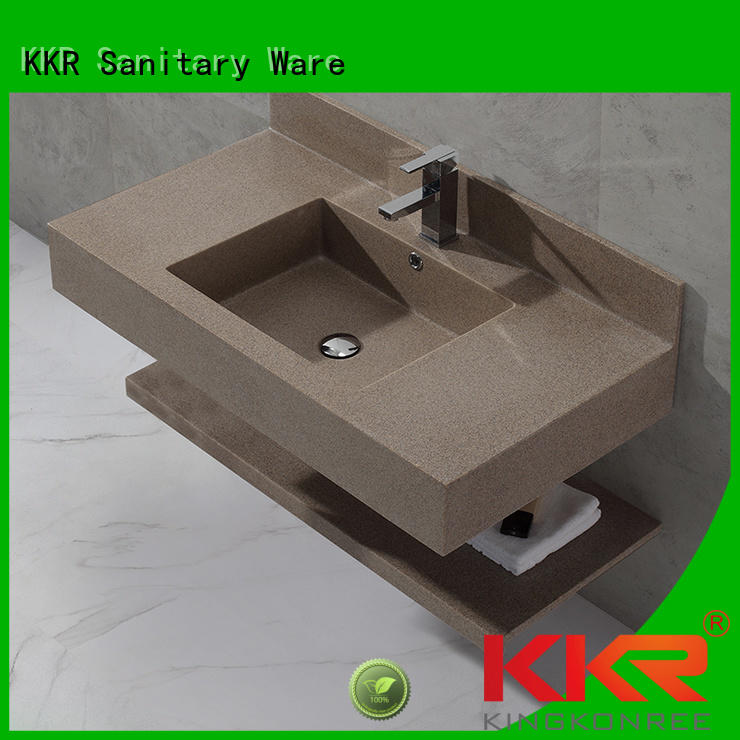 stone square KingKonree Brand wall mounted bathroom basin factory
