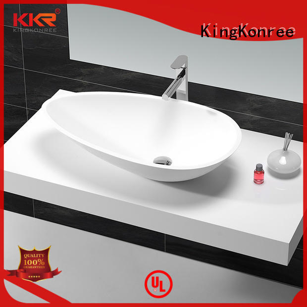 KingKonree durable bathroom countertops and sinks customized for room