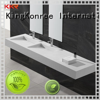 classic wall hung vanity basin supplier for hotel