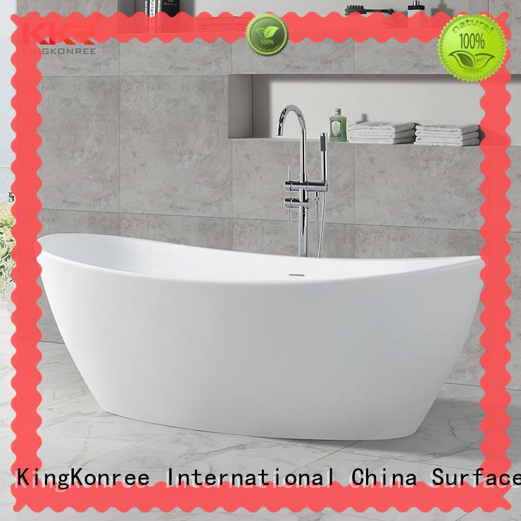 matt solid surface bathtub resin KingKonree