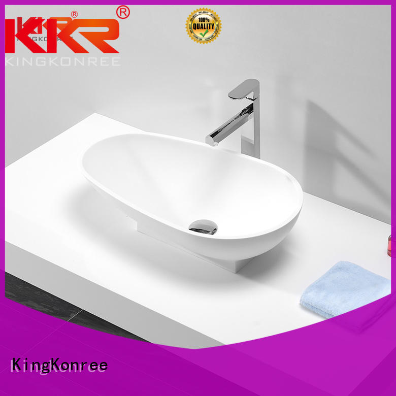 pure above counter vessel sink supplier for restaurant