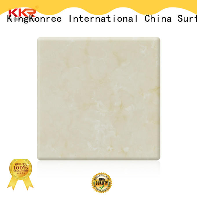 solid surface sheet suppliers grey for hotel KingKonree