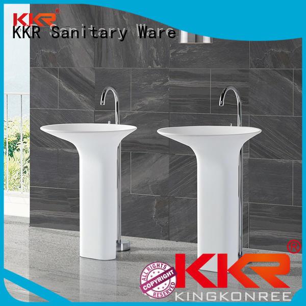 bathroom free standing basins white freestanding basin KingKonree Brand