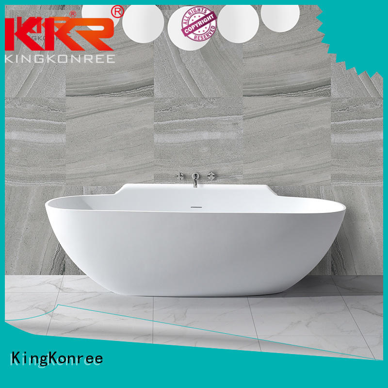 Hot tub solid surface bathtub 190cm sanitary KingKonree Brand