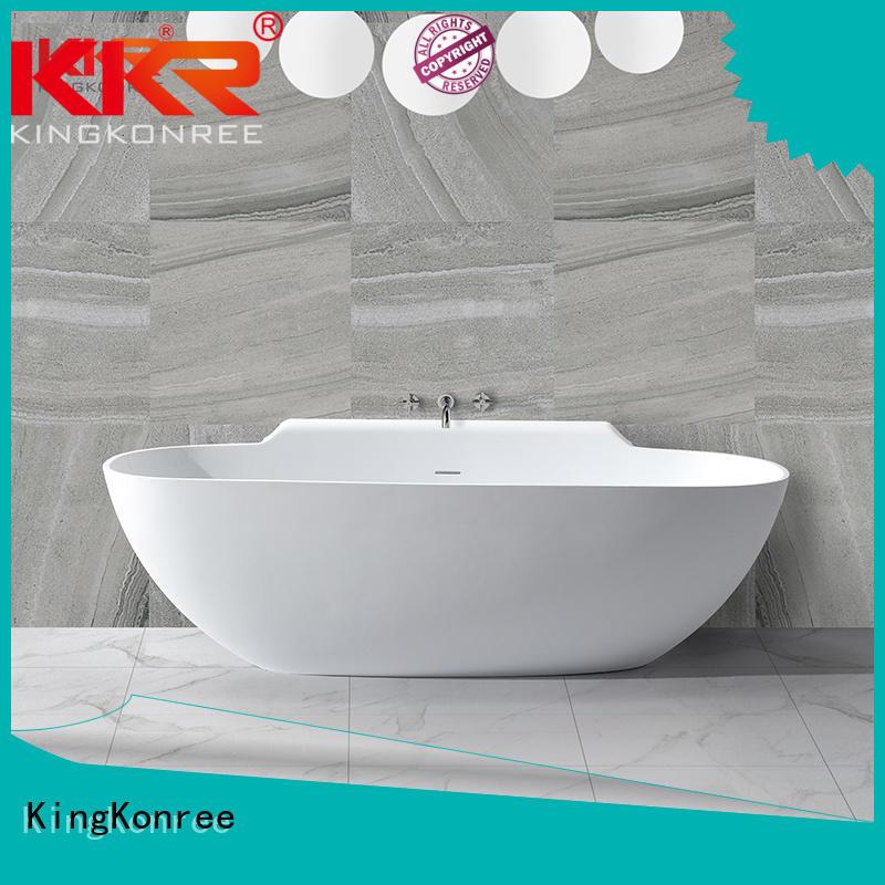 Hot tub solid surface bathtub 190cm sanitary KingKonree Brand