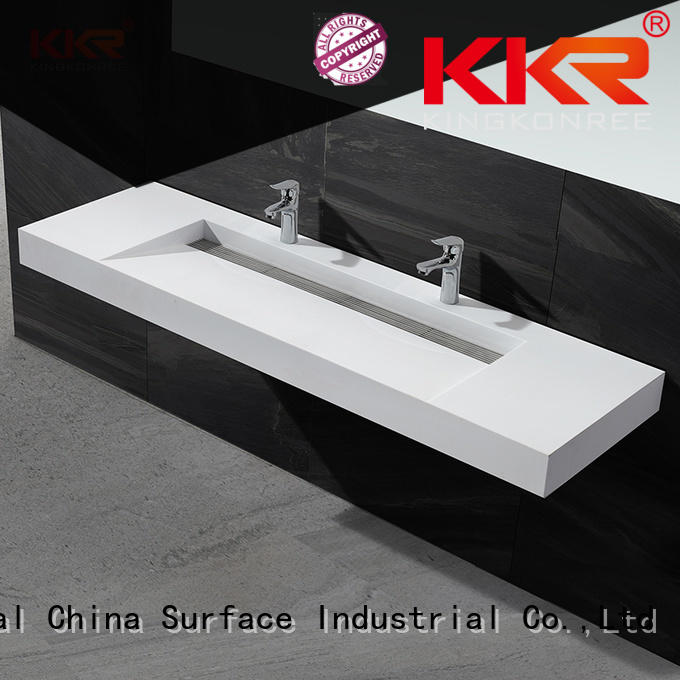 double small wall hung basin customized for bathroom
