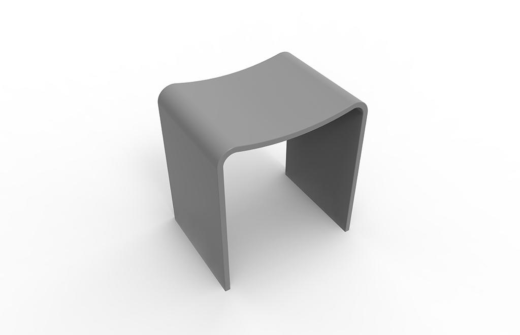 Best-selling Acrylic Solid Surface Bathroom Stool With Kinds Of Color For Choice KKR-Stool-B-1