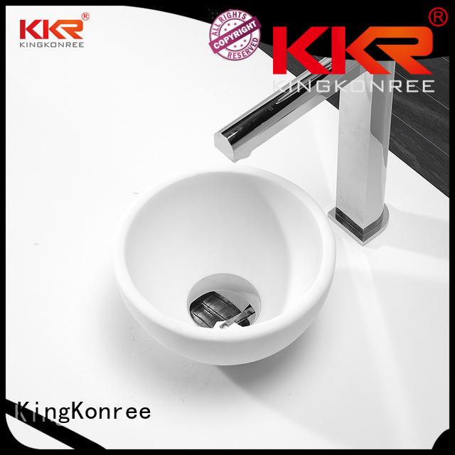 white selling acyrlic KingKonree Brand above counter basins