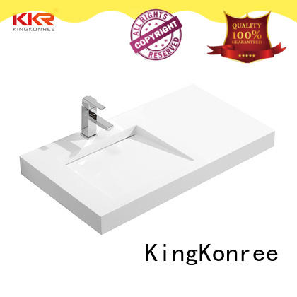 rectangle wall hung bathroom basins sink for home KingKonree