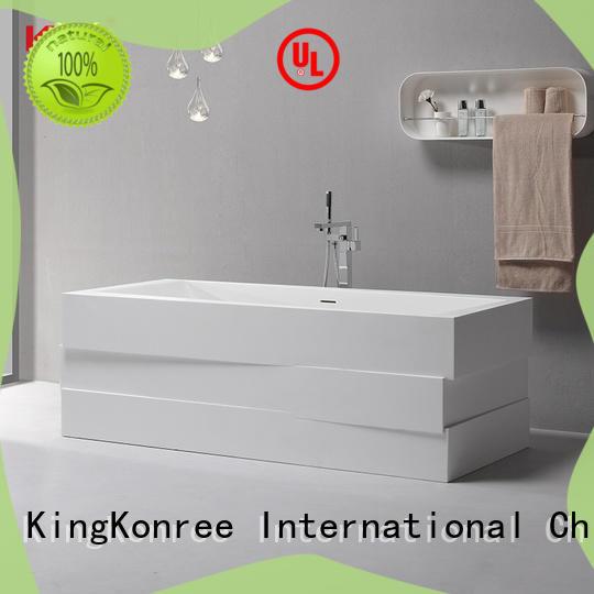 Modern Design Acrylic Resin Stone Solid Surface Freestand Bath Tub KKR-B085