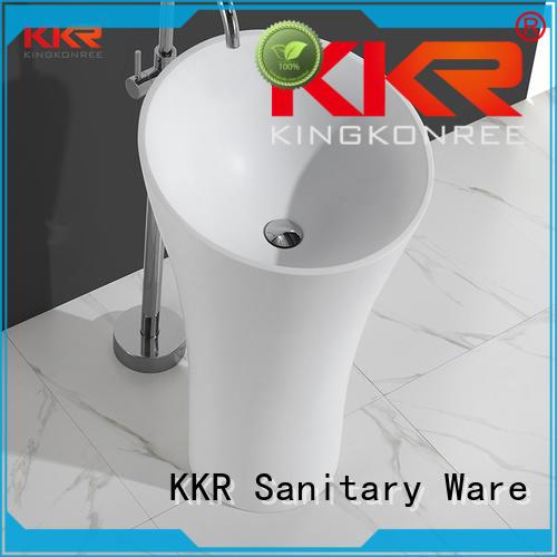 Solid surface modern fancy unique bathroom freestanding wash basin KKR-1394