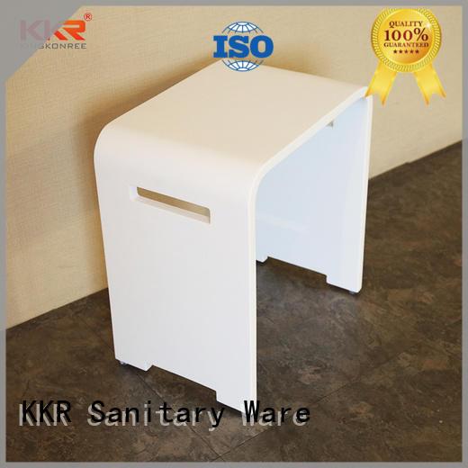 Hot Sales Solid Surface White Marble Bathroom Stool KKR-Stool-K