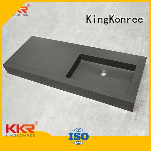white cabinet royal cloakroom basin with cabine acrylic KingKonree