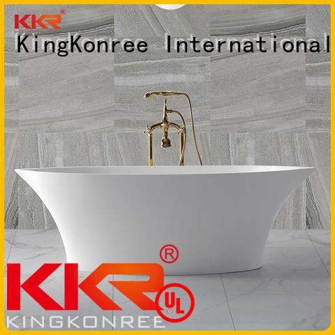 afrtificial matt bathtub surface solid surface bathtub KingKonree