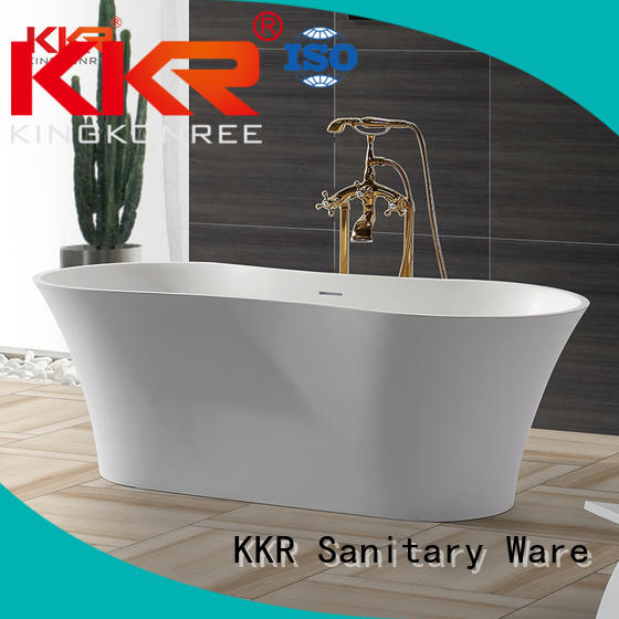 KingKonree Brand design Solid Surface Freestanding Bathtub 150cm supplier