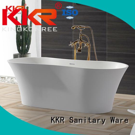 KingKonree Brand design Solid Surface Freestanding Bathtub 150cm supplier