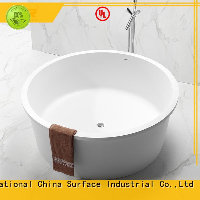 KingKonree overflow round freestanding bathtub OEM